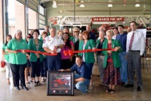 Ole Betsy restoration ribbon cutting
